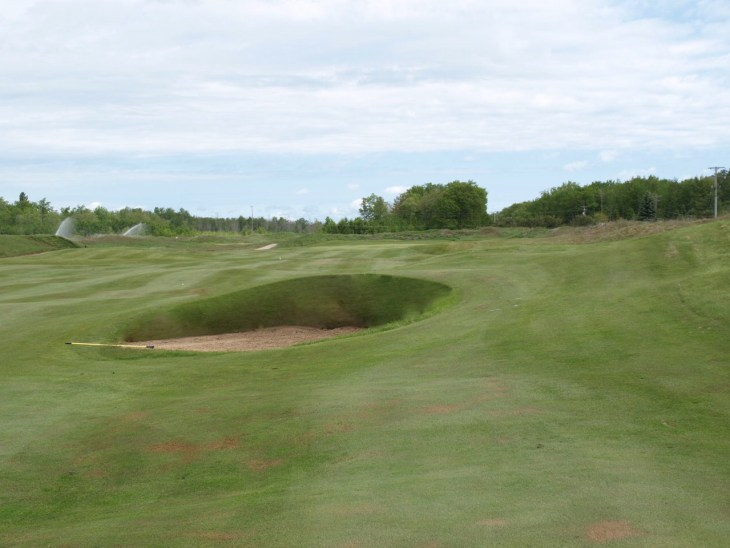 Looking down the 1st fairway at The Gailes