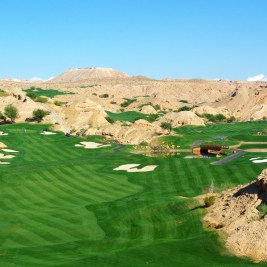 Opening hole at Wolf Creek Golf Club