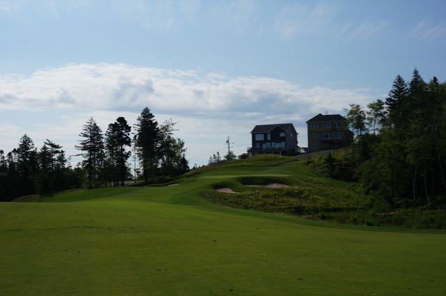 The 7th hole at Brunello captures some of the feel of an old school course that it attempts to emulate.