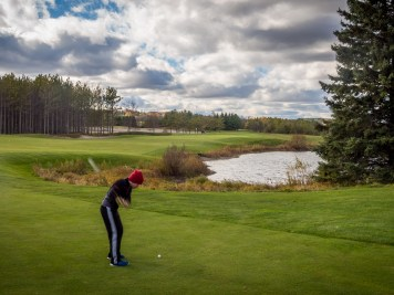 Coming home on 18 at Osprey Valley's wonderful Hoot course