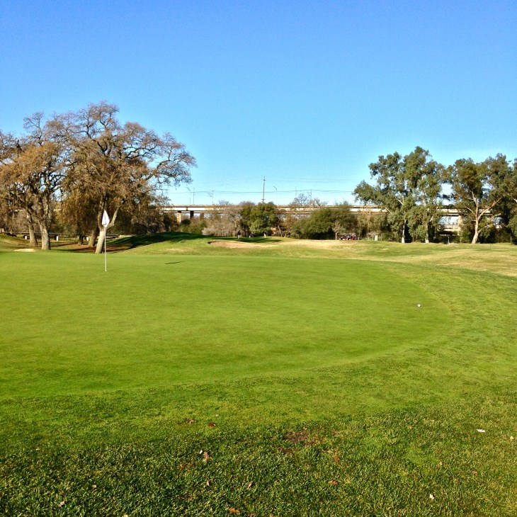One of the 18 beautiful and fair greens, the 5th.