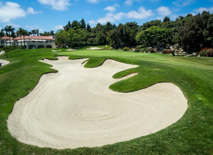 18th hole at Aviara Golf Club, Carlsbad, California