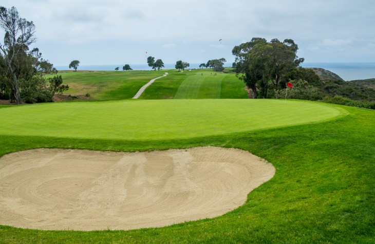 From behind the green at 13th hole Torrey Pines South