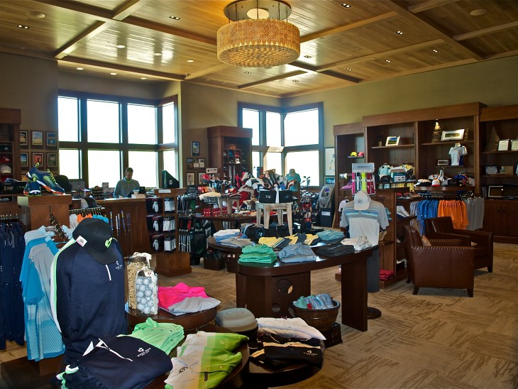 Asst. Pro Elliott Paylor in the spotless and well stocked pro shop.