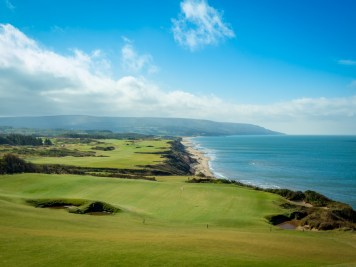 What a finish - 17 and 18 hug the ocean at Cabot Cliffs