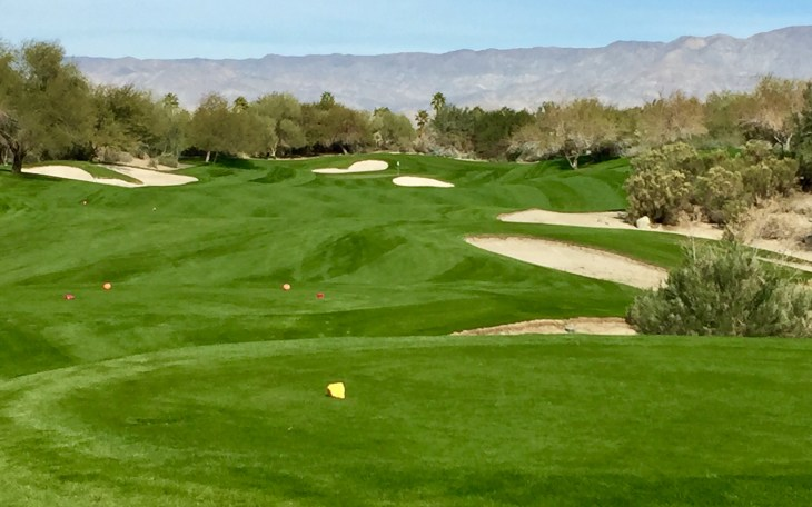 The rolling fairways on the Par 4 2nd hole