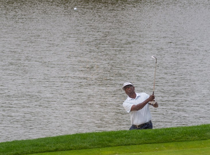 Singh blasts out of bunker at 6th