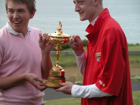Simon and Jamie with Mr Ryder's Cup