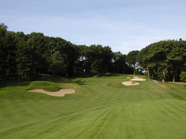 The 4th hole played as a converted par-4.