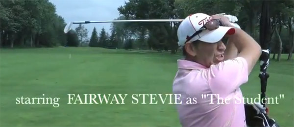 New golf coaching series 'Golf 911' starring Fairway Stevie as the student