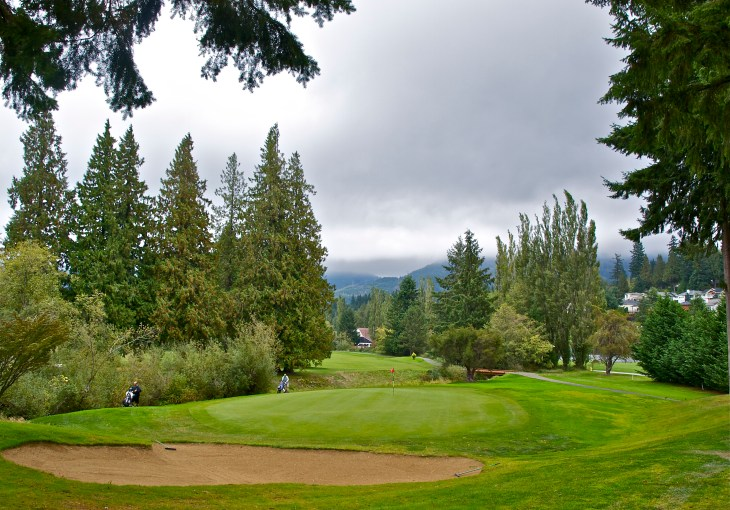Looking back down the beautiful 9th hole