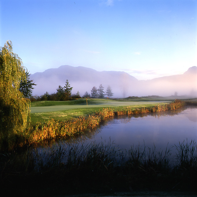 Water, water everywhere: Big Sky's holding ponds overwhelm the course after a while.