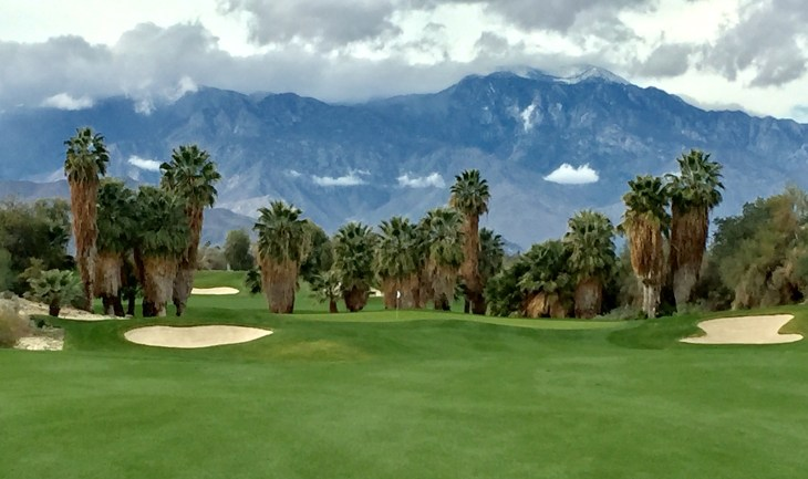 View of the green on the Par 4 2nd hole from the fairway