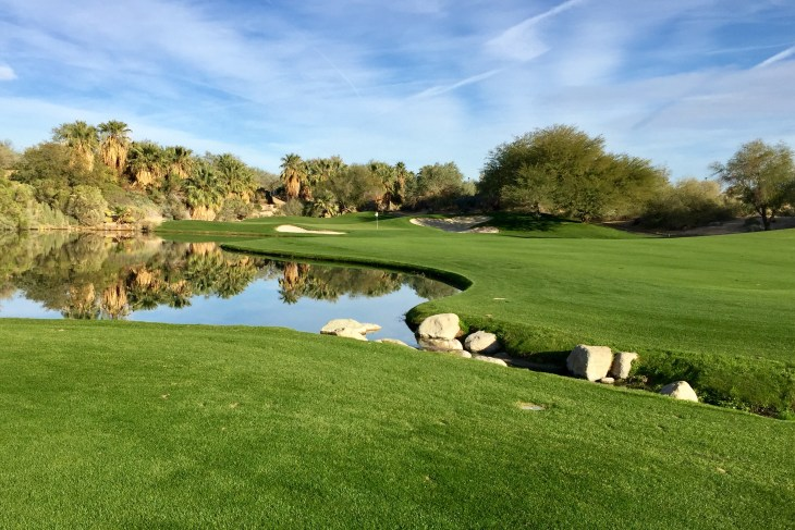 The standard at Desert Willow, fantastic finishing holes