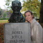 Sharon McAuley and James Joyce statue, Dublin (Image: Brian Kendall)