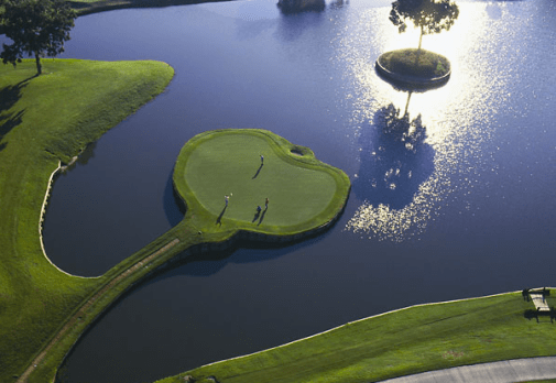 Famous 17th hole at TPC Stadium Course (Image: Sawgrass Golf Resort and Spa)