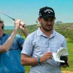 Aruba Cup captains Stephen Ames and Julian Etulian