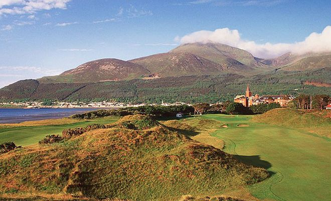 Royal County Down golf course in Northern Ireland