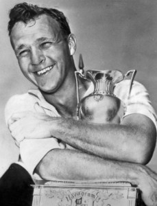 Arnold Palmer and Canadian Open trophy 1955