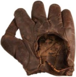 Babe Ruth's circa 1926 baseball glove. (Image: National Baseball Hall of Fame and Museum)