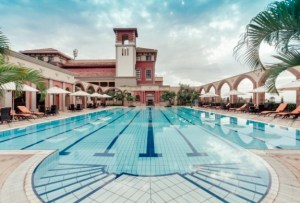 Lake Uganda Serena Golf Resort and Spa pool. (Image: Serena Hotels)