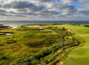 Cabot Cliffs golf course hole in Cape Breton Nova Scotia