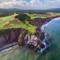 Dramatic Par Three at Cabot Cliffs golf course (Image: Cabot Cliffs)