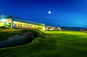 The clubhouse and restaurant at Cabot Links in Cabot Breton Nova Scotia