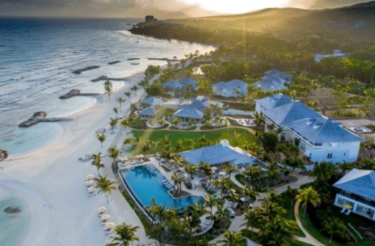 Half Moon Resort in Jamaica, aerial view