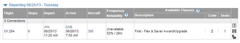 Expertflyer Results