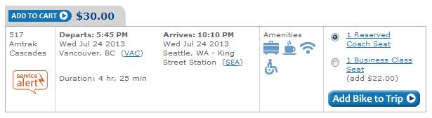 Amtrak Ticket