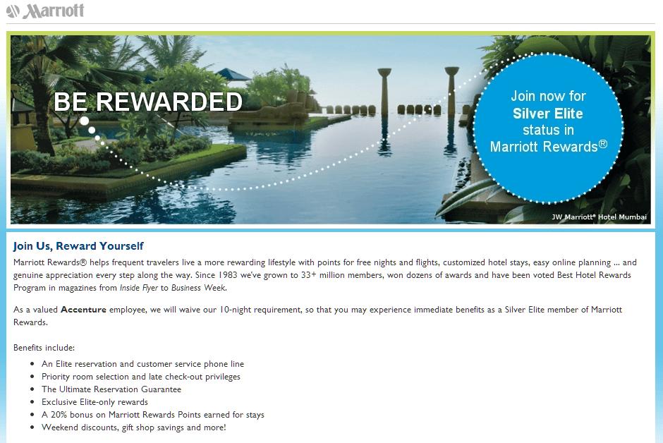 Free Marriott Status