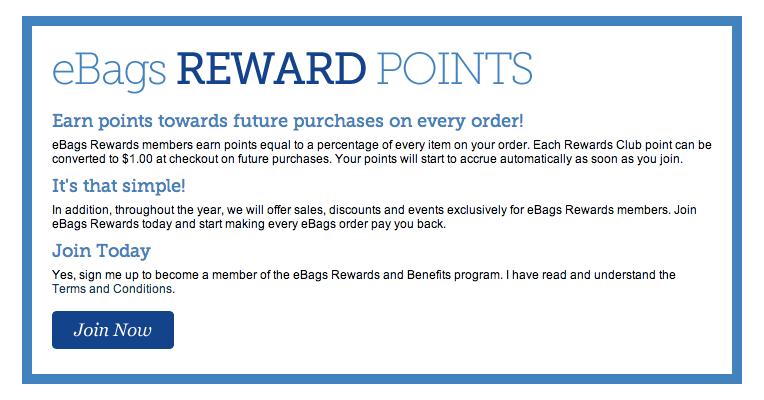 eBags Rewards
