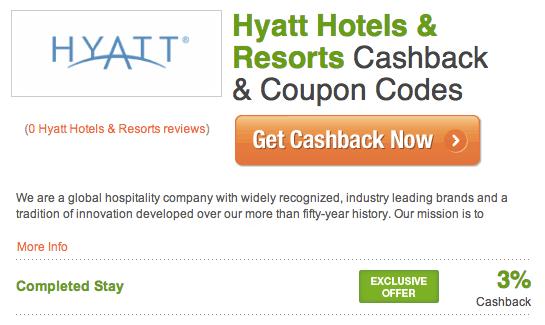 Hyatt Cashback