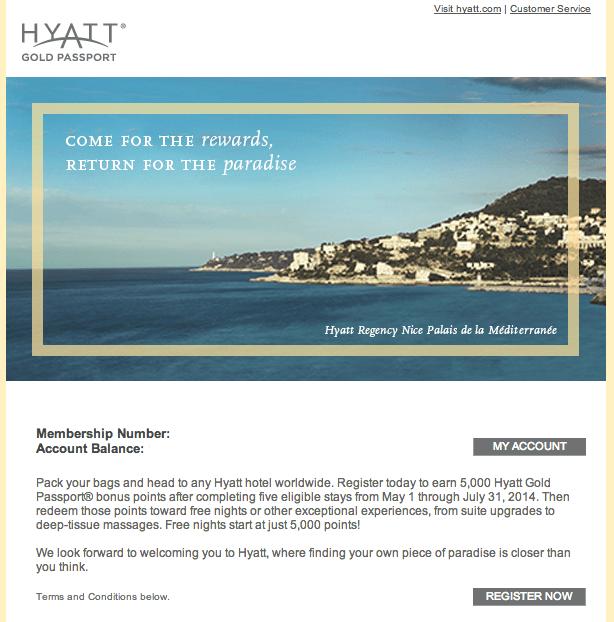 Hyatt Bonus