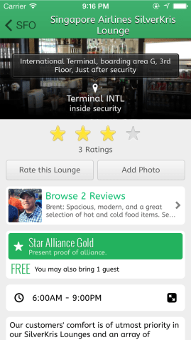 LoungeBuddy App Screenshot