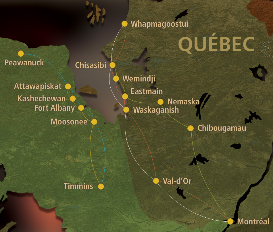 Air Creebec Route Map