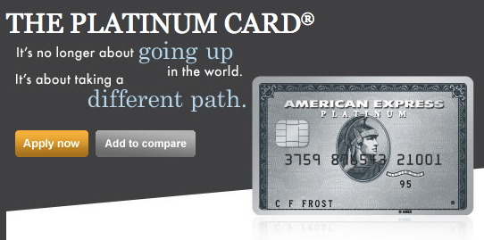 American Express Platinum Card - 60,000 Points