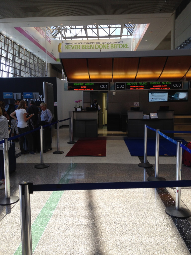 Singapore Suites Check-In Counter