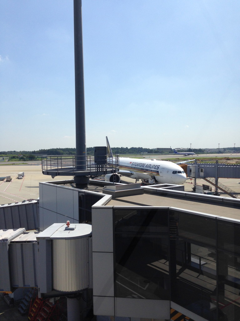 View of the Singapore AIrlines Boeing 777-300ER