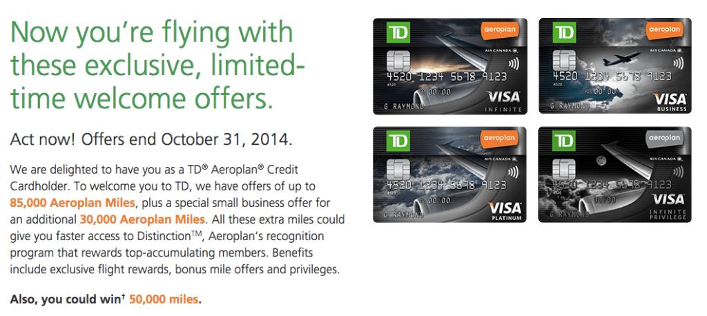 TD Aeroplan Banking Offer (Targeted)