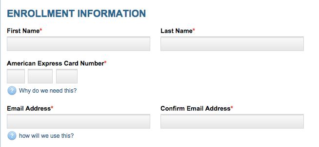 American Express Fairmont  Statement Credit Offer Registration
