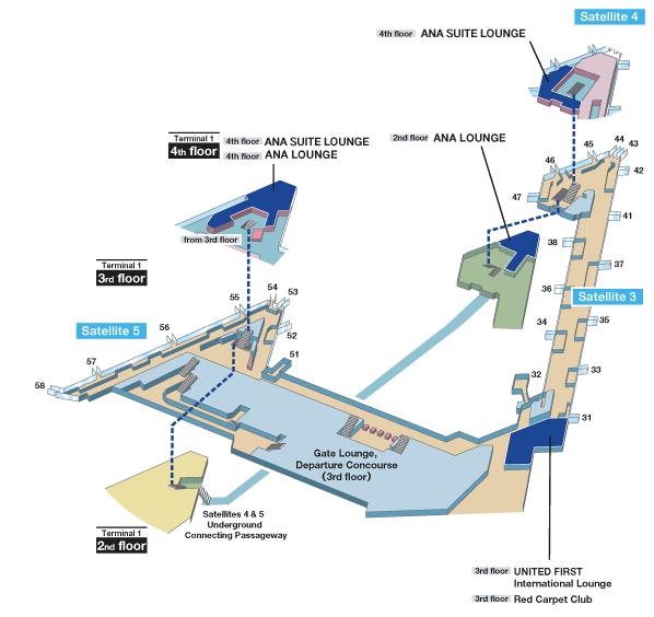 Tokyo Narita Terminal 1 Map