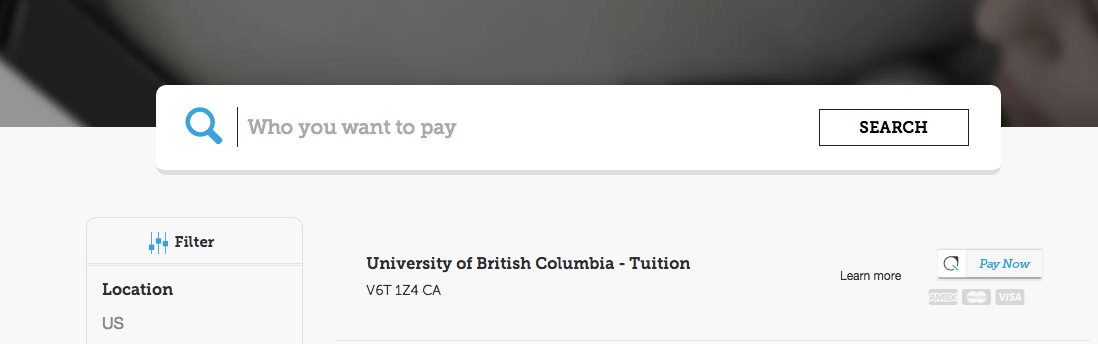 Pay UBC tuition with Plastiq