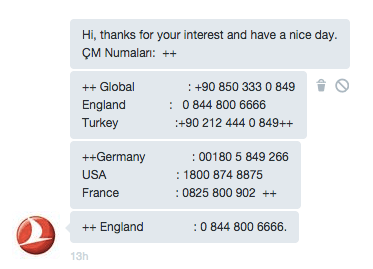Turkish AIrlines Twitter
