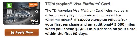 TD Aeroplan Visa Platinum