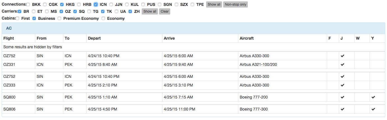 Award.Flights Results