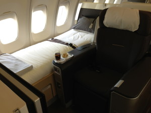 Seat and Bed Combo on B747