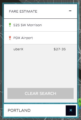 Uber Prices in Portland