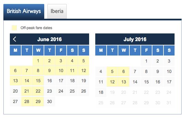 June/July 2016 Peak Dates